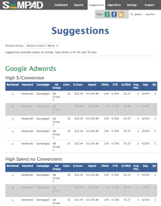 Ad Optimization Suggestions