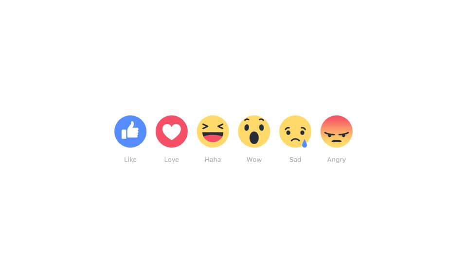 facebook's reaction buttons