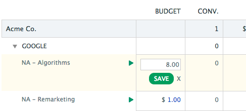 Change Adwords Campaign Budgets